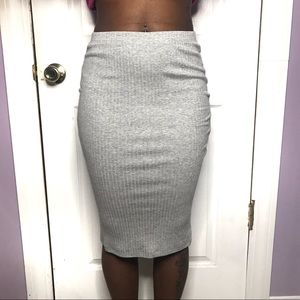 H&m Womens Gray Pencil Skirt Size Small